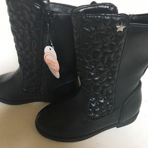 Kids boots black new